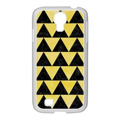 Triangle2 Black Marble & Yellow Watercolor Samsung Galaxy S4 I9500/ I9505 Case (white)