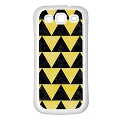Triangle2 Black Marble & Yellow Watercolor Samsung Galaxy S3 Back Case (white)