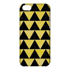 Triangle2 Black Marble & Yellow Watercolor Apple Iphone 5c Hardshell Case
