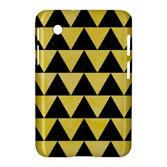 Triangle2 Black Marble & Yellow Watercolor Samsung Galaxy Tab 2 (7 ) P3100 Hardshell Case