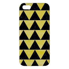 Triangle2 Black Marble & Yellow Watercolor Iphone 5s/ Se Premium Hardshell Case