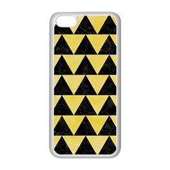Triangle2 Black Marble & Yellow Watercolor Apple Iphone 5c Seamless Case (white)