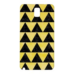 Triangle2 Black Marble & Yellow Watercolor Samsung Galaxy Note 3 N9005 Hardshell Back Case