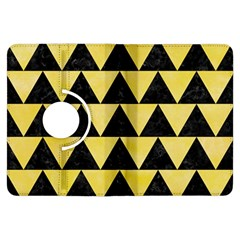 Triangle2 Black Marble & Yellow Watercolor Kindle Fire Hdx Flip 360 Case