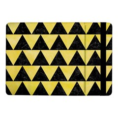 Triangle2 Black Marble & Yellow Watercolor Samsung Galaxy Tab Pro 10 1  Flip Case