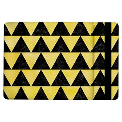 Triangle2 Black Marble & Yellow Watercolor Ipad Air Flip
