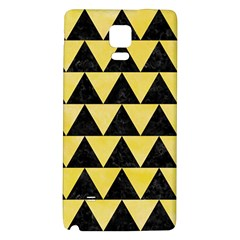 Triangle2 Black Marble & Yellow Watercolor Galaxy Note 4 Back Case