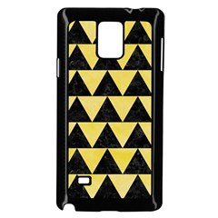 Triangle2 Black Marble & Yellow Watercolor Samsung Galaxy Note 4 Case (black)