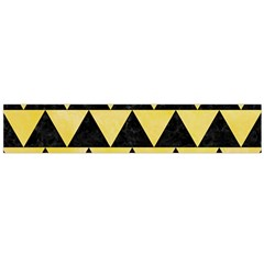 Triangle2 Black Marble & Yellow Watercolor Large Flano Scarf