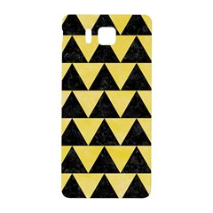 Triangle2 Black Marble & Yellow Watercolor Samsung Galaxy Alpha Hardshell Back Case