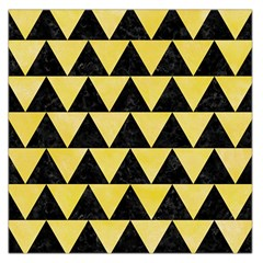 Triangle2 Black Marble & Yellow Watercolor Large Satin Scarf (square)