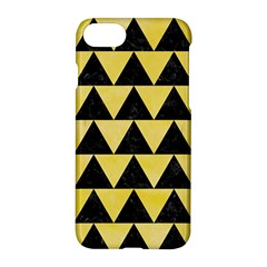 Triangle2 Black Marble & Yellow Watercolor Apple Iphone 7 Hardshell Case