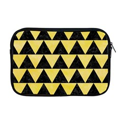 Triangle2 Black Marble & Yellow Watercolor Apple Macbook Pro 17  Zipper Case