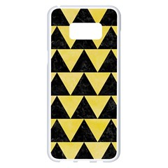 Triangle2 Black Marble & Yellow Watercolor Samsung Galaxy S8 Plus White Seamless Case