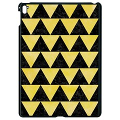 Triangle2 Black Marble & Yellow Watercolor Apple Ipad Pro 9 7   Black Seamless Case