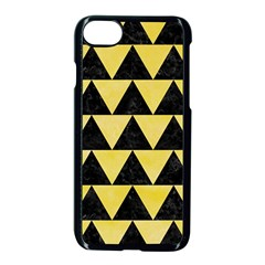 Triangle2 Black Marble & Yellow Watercolor Apple Iphone 8 Seamless Case (black)