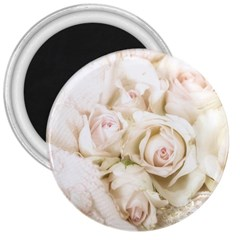 Pastel Roses Antique Vintage 3  Magnets