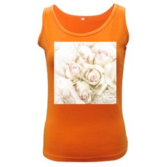 Pastel Roses Antique Vintage Women s Dark Tank Top