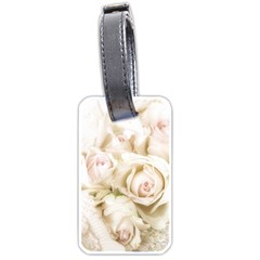 Pastel Roses Antique Vintage Luggage Tags (one Side)