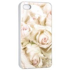 Pastel Roses Antique Vintage Apple Iphone 4/4s Seamless Case (white)