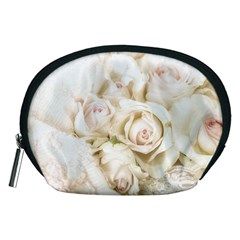 Pastel Roses Antique Vintage Accessory Pouches (medium)