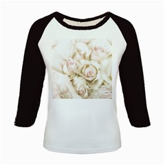 Pastel Roses Antique Vintage Kids Baseball Jerseys