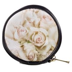 Pastel Roses Antique Vintage Mini Makeup Bags