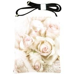 Pastel Roses Antique Vintage Shoulder Sling Bags