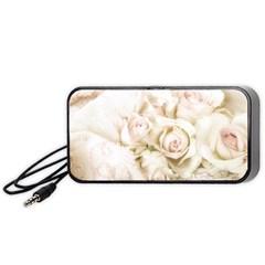 Pastel Roses Antique Vintage Portable Speaker
