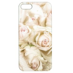 Pastel Roses Antique Vintage Apple Iphone 5 Hardshell Case With Stand