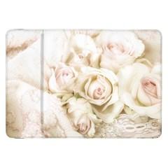Pastel Roses Antique Vintage Samsung Galaxy Tab 8 9  P7300 Flip Case