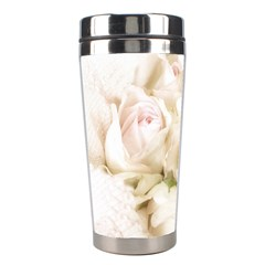 Pastel Roses Antique Vintage Stainless Steel Travel Tumblers