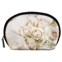 Pastel Roses Antique Vintage Accessory Pouches (large)