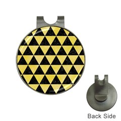 Triangle3 Black Marble & Yellow Watercolor Hat Clips With Golf Markers