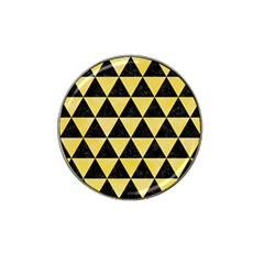 Triangle3 Black Marble & Yellow Watercolor Hat Clip Ball Marker (4 Pack)