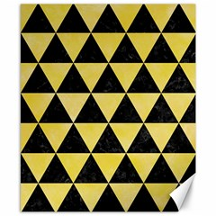 Triangle3 Black Marble & Yellow Watercolor Canvas 8  X 10