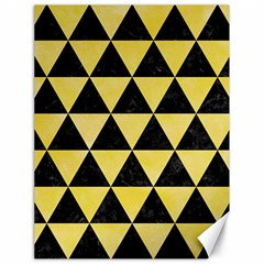 Triangle3 Black Marble & Yellow Watercolor Canvas 18  X 24