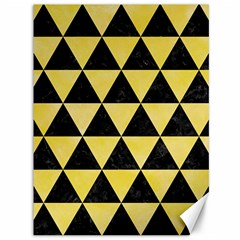 Triangle3 Black Marble & Yellow Watercolor Canvas 36  X 48