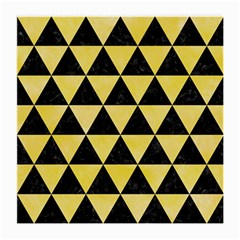 Triangle3 Black Marble & Yellow Watercolor Medium Glasses Cloth (2 Side)