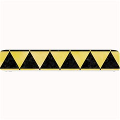 Triangle3 Black Marble & Yellow Watercolor Small Bar Mats