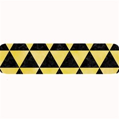 Triangle3 Black Marble & Yellow Watercolor Large Bar Mats