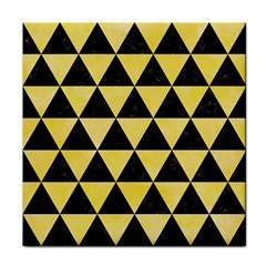 Triangle3 Black Marble & Yellow Watercolor Face Towel
