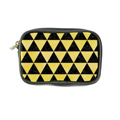 Triangle3 Black Marble & Yellow Watercolor Coin Purse