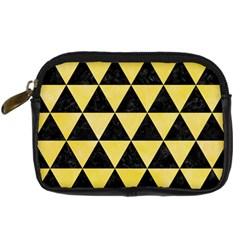 Triangle3 Black Marble & Yellow Watercolor Digital Camera Cases