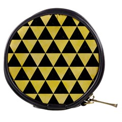 Triangle3 Black Marble & Yellow Watercolor Mini Makeup Bags