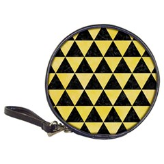 Triangle3 Black Marble & Yellow Watercolor Classic 20 Cd Wallets