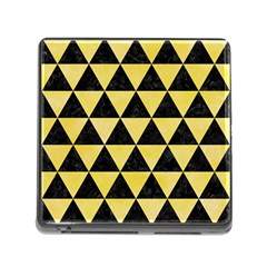 Triangle3 Black Marble & Yellow Watercolor Memory Card Reader (square)