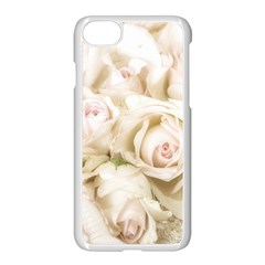 Pastel Roses Antique Vintage Apple Iphone 8 Seamless Case (white)