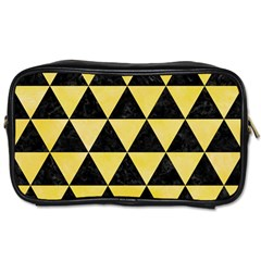 Triangle3 Black Marble & Yellow Watercolor Toiletries Bags