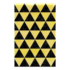 Triangle3 Black Marble & Yellow Watercolor Shower Curtain 48  X 72  (small)